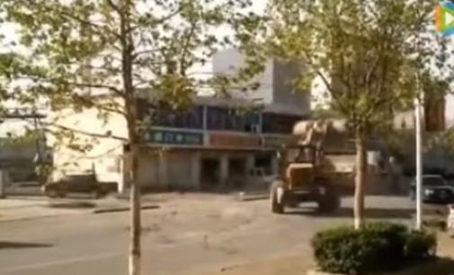 Битва бульдозеров в Китае