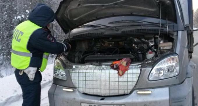 Инспекторы ГИБДД спасли замёрзшего водителя фуры, который ехал с детскими подарками
