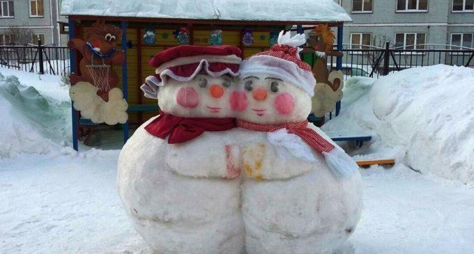 Конкурс снежных скульптур провели среди детсадовцев Новосибирска