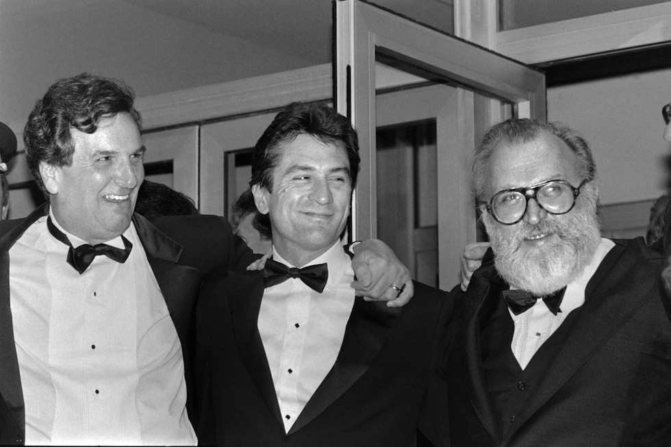 "(from Left), US actors Danny Aiello, Robert de Niro and Italian film director Sergio Leone arrive for the screening of the film ""Once upon a time in America"" (Il était une fois en Amérique), on May 20, 1984 during the Cannes International Film Festival. AFP PHOTO RALPH GATTI (Photo credit should read RALPH GATTI/AFP/Getty Images)"