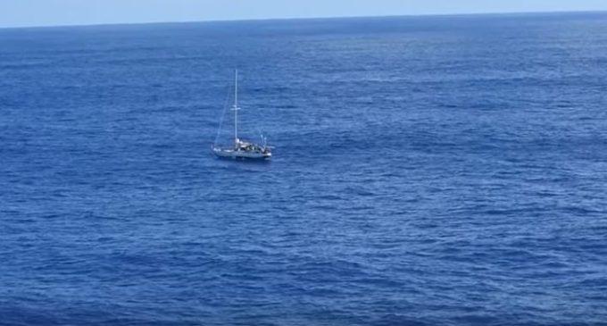 Спасение дрейфовавших полгода в Тихом океане девушек сняли на видео