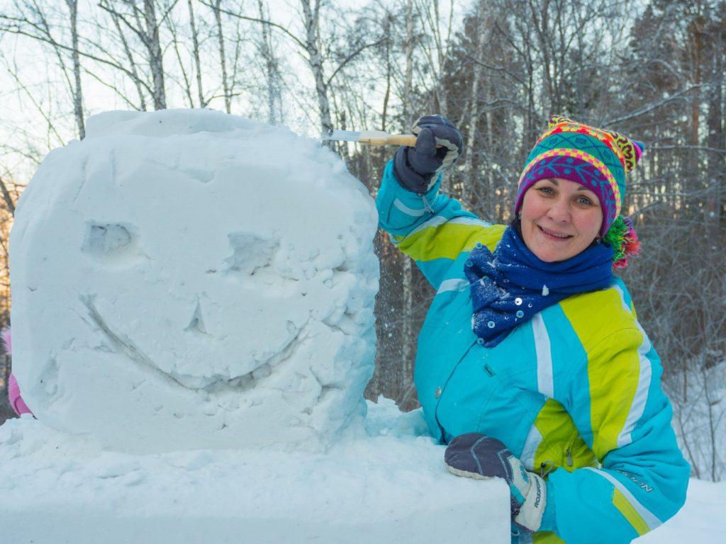 Роев ручей-парад снеговиков-3
