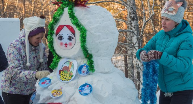 Парад снеговиков пришел в Красноярск!