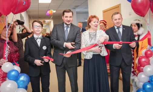 В Тельвиске торжественно открыли новое здание школы