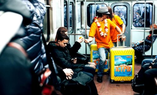 ТНТ дарит солнечное настроение пассажирам петербургского метро