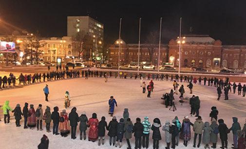 В Иркутске прошел танцевальный флэшмоб «Глобальный ёхор»