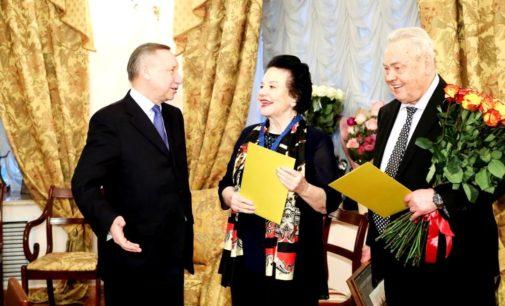 Александр Беглов наградил Ирину Богачеву знаком отличия «За заслуги перед Санкт-Петербургом»