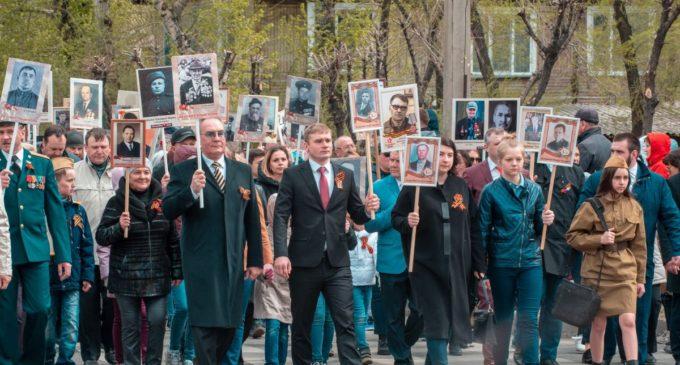 Глава республики Хакасия принял участие в акции «Бессмертный полк»