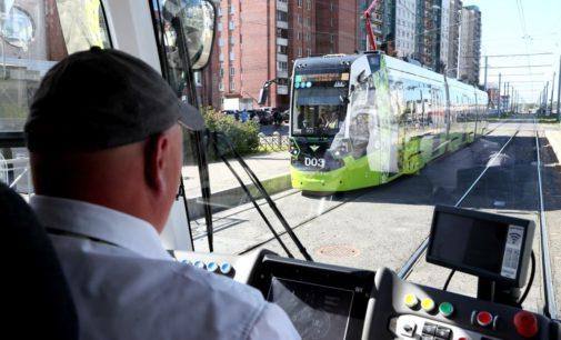 Трамвай «Чижик» вышел на два новых маршрута в Красногвардейском районе