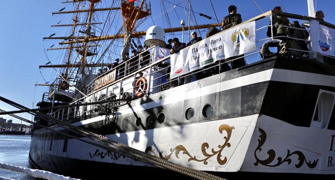 Фрегат «Паллада» отправился в третье кругосветное путешествие из Приморья