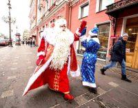 Северная Пальмира, город легендарной красоты, встречает Всероссийского Деда Мороза