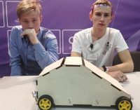 Красноярские школьники придумали послушную газонокосилку!
