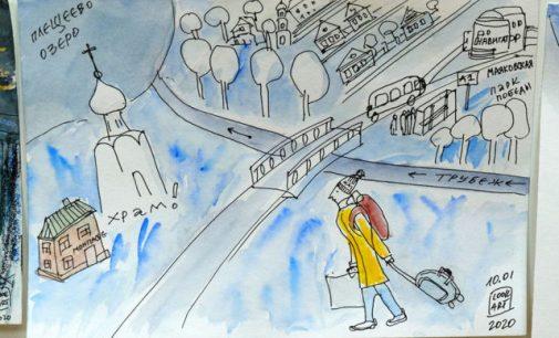 В Переславле открылась арт-выставка «Памятные места и храмы Александра Невского»