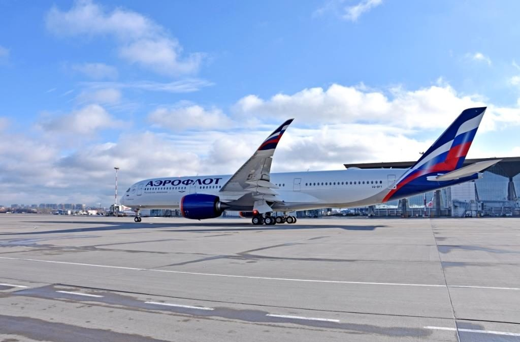 Первый коммерческий рейс Аэрофлота на А350 в Пулково