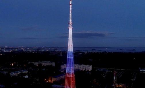 Казанская телебашня окрасится в цвета флага России