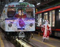 Верная примета — если в метро появился новогодний поезд, значит праздник к нам приходит