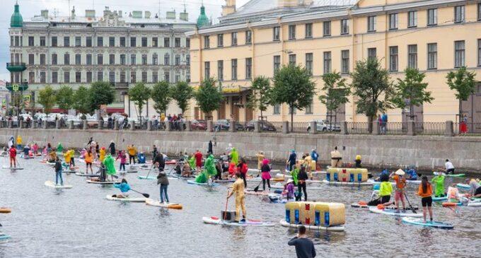 В Северной столице прошел самый крупный фестиваль сапсерферов